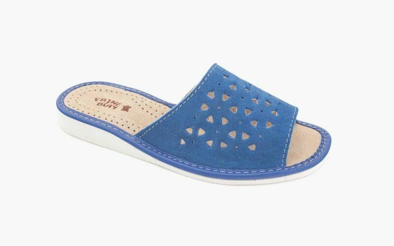 Pantofel damski nr kat. 521 niebieski - sprzedaż hurtowa