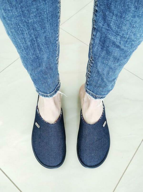 Pantofel damski jeansowy nr kat 711 - Polski producent